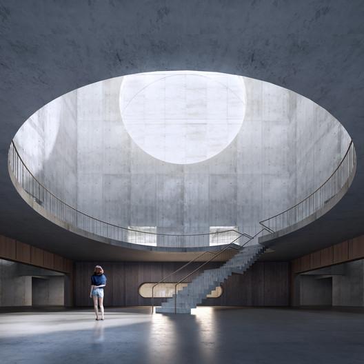 Gwangjiu Korea Library. Image © STLArchitects