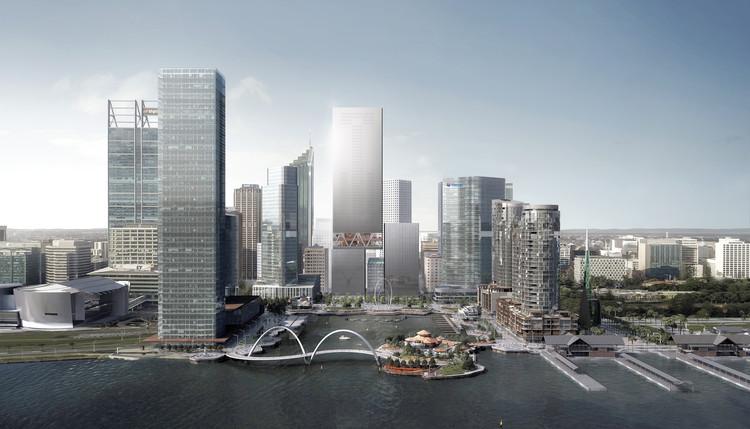 REX Creates New Skyscraper Design for Perth's Elizabeth Quay Towers, Courtesy of MRA, Luxigon