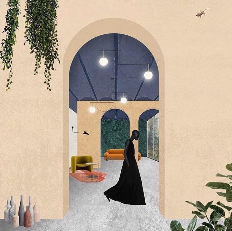MMW, uma plataforma de representações arquitetônicas produzidas por mulheres, Ilustração de @cipriastudio Marzia Iacono e Anna Lisa Pruiticiarello | Itália. Image Cortesia de MMW