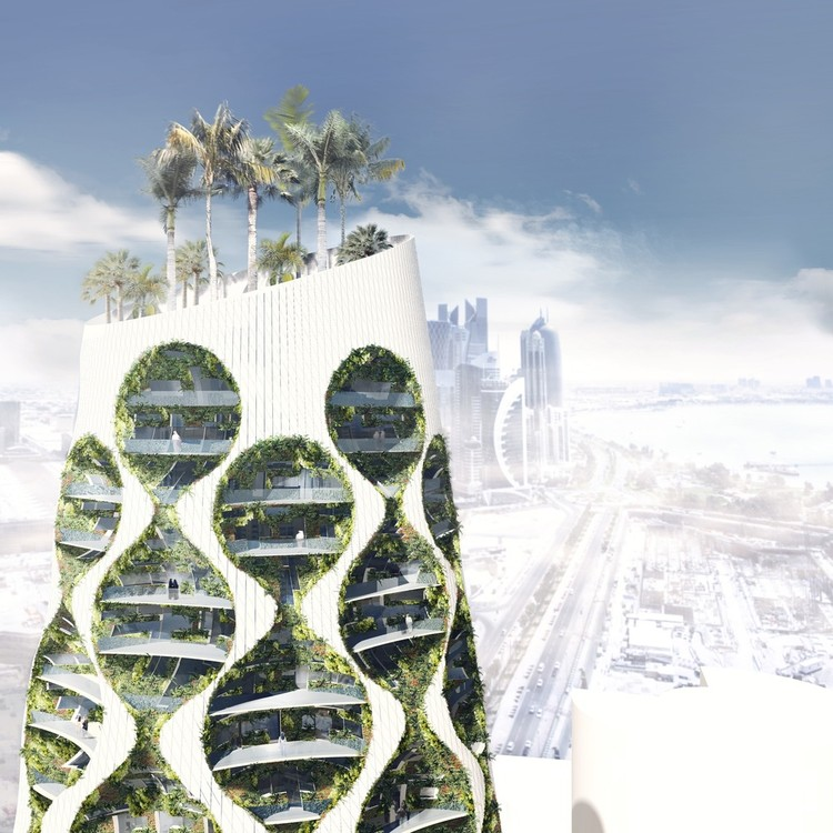 FAAB Architektura Imagines Vertical Oasis Building in Saudi Arabia, Courtesy of FAAB Architektura