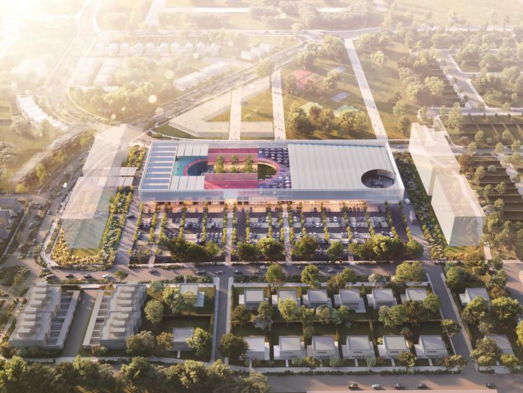 OMA projeta complexo comercial no subúrbio de Melbourne, © OMA
