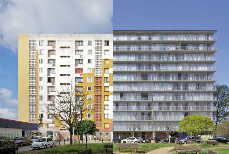 The Rehabilitation of Post-War Housing Blocks in 7 Projects, Cité du Grand Parc. Image © Philippe Ruault