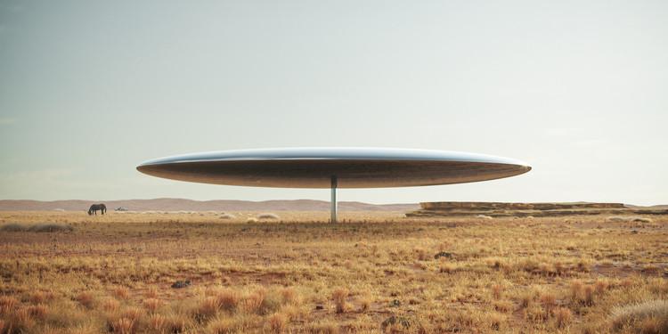 """""""Ciudadanos de la Tierra"""" una instalación sobre la frontera México-Estados Unidos por Marc Thorpe, Courtesy of Marc Thorpe Design"""