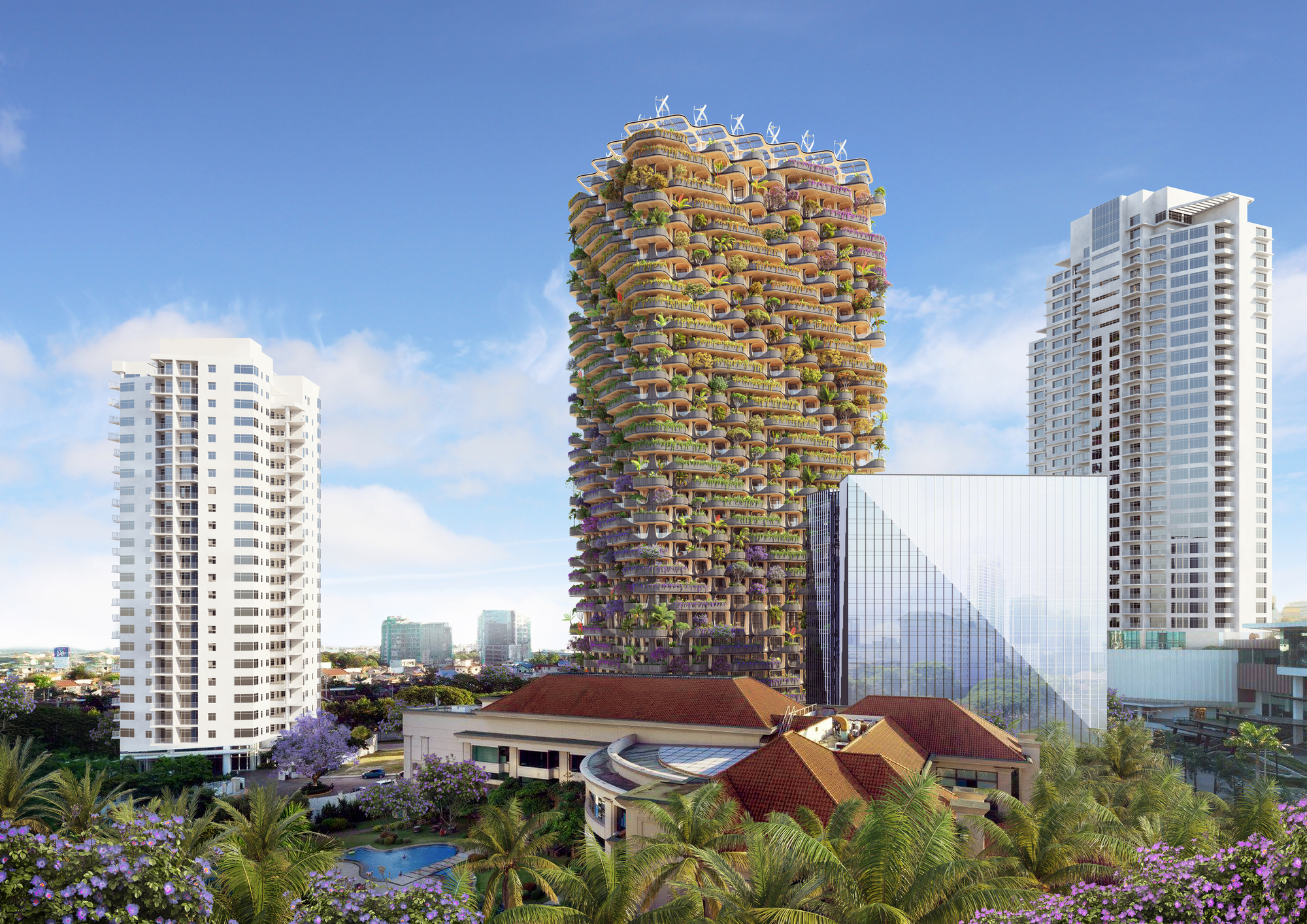 Vincent Callebaut Designs a Modular Mass Timber Tower on the Island of Cebu, in the Philippines