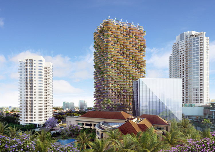 Vincent Callebaut Designs a Modular Mass Timber Tower on the Island of Cebu, in the Philippines, © Vincent Callebaut Architectures