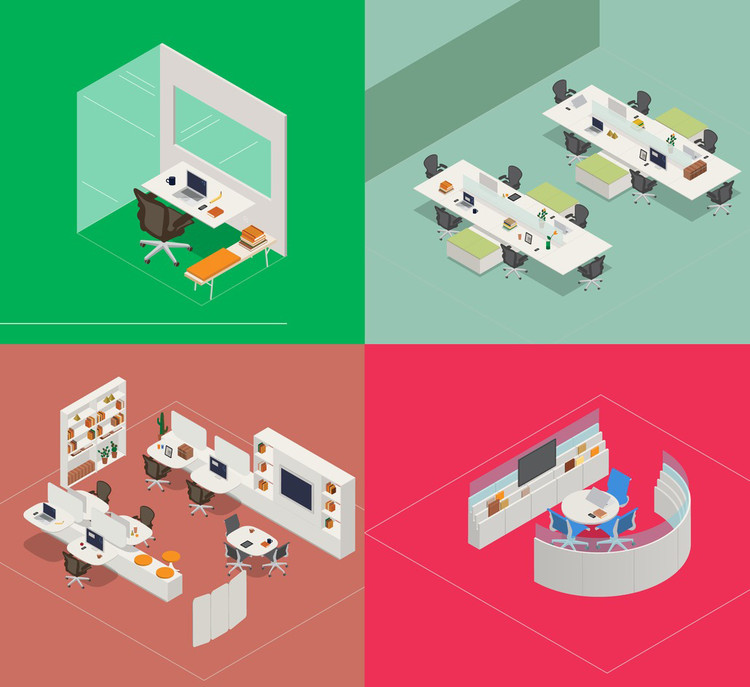 Out of Office: How Workplaces Evolved from Cubicles to Coffee Shops , Courtesy of Herman Miller