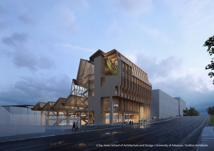 Grafton Architects Wins Competition to Design the Anthony Timberlands Center at the University of Arkansas , Courtesy of Fay Jones School of Architecture and Design, University of Arkansas / Grafton Architects