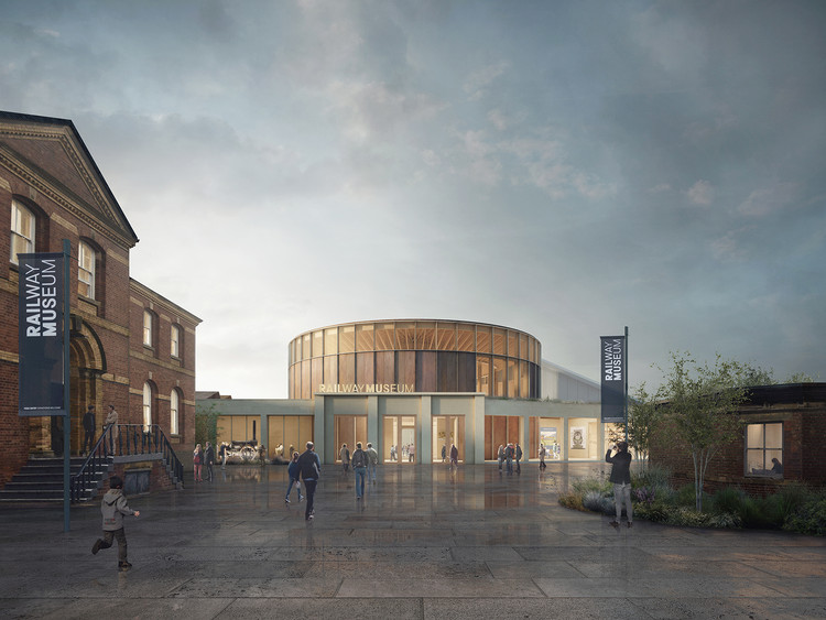 Feilden Fowles Wins the National Railway Museum Central Hall Competition, © Feilden Fowles