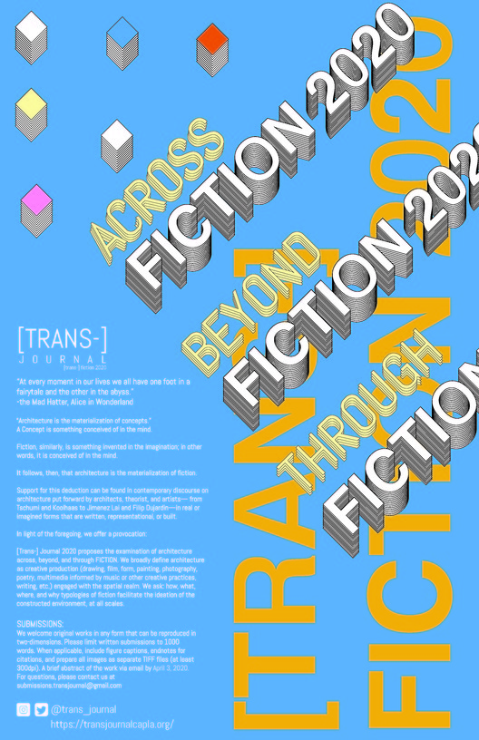 [Trans-] fiction 2020 :: Journal / Call for Submissions