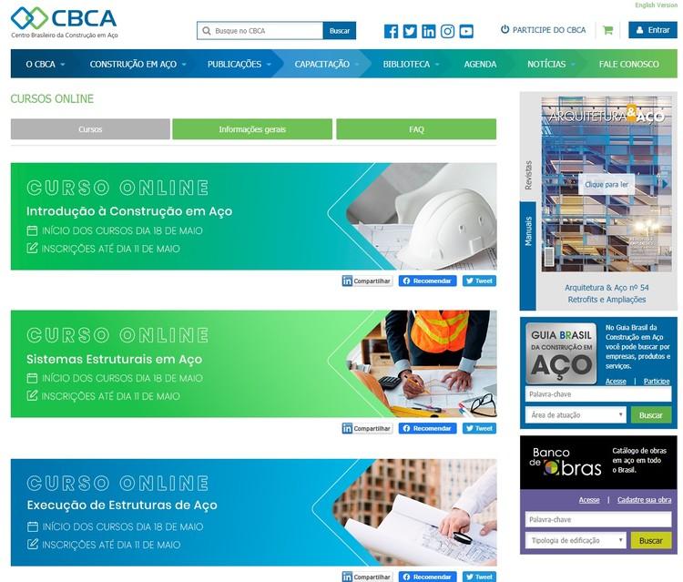 CBCA abre inscrições para seus tradicionais cursos online, CBCA cursos on line