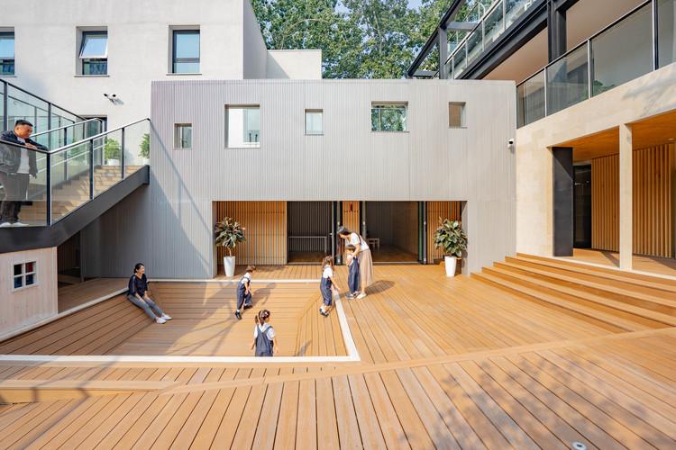 Escuela IBG / HIBINOSEKKEI + Youji no Shiro + Kids Design Labo, © Taku Hibino