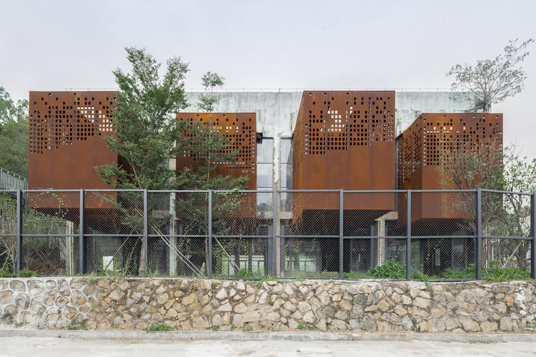Library facade. Image © Siming Wu