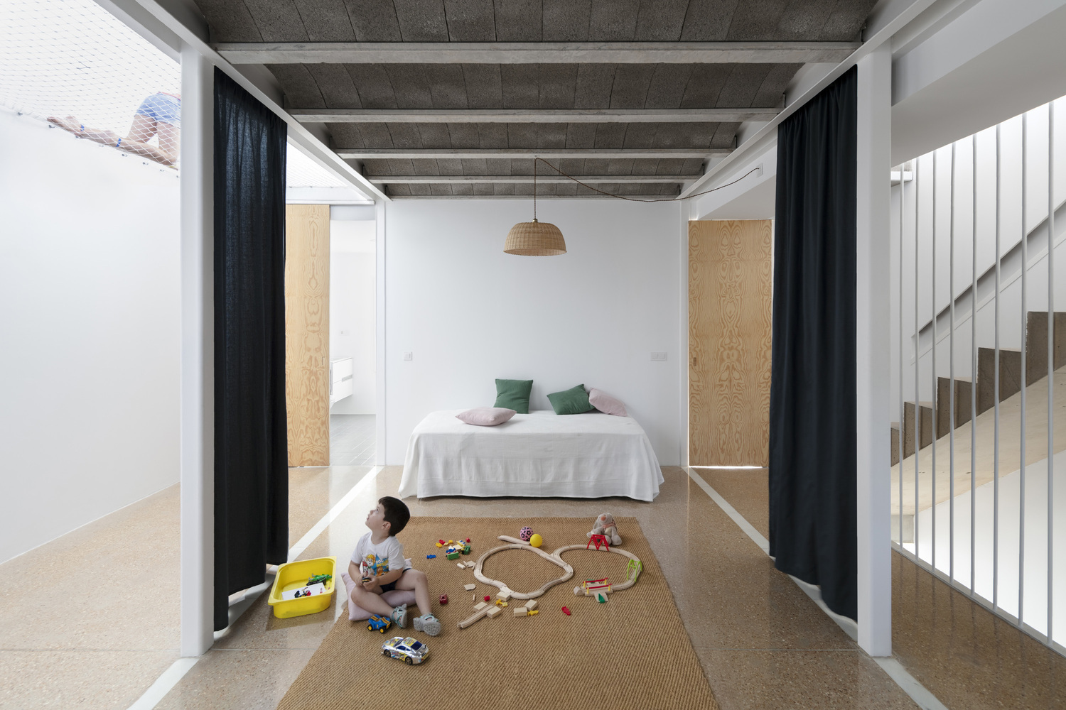 Curtains As Room Dividers Towards A Fluid And Adaptable Architecture Archdaily