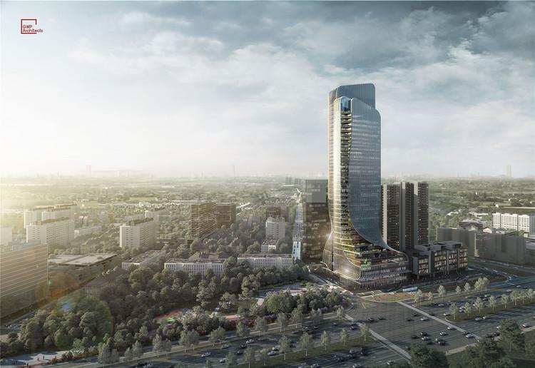GWP Architects projeta novo arranha-céu para a cidade de Guangzhou, © GWP Architects