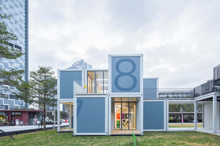 Plugin Learning Blox / People's Architecture Office, fachada este. Image Courtesy of People's Architecture Office