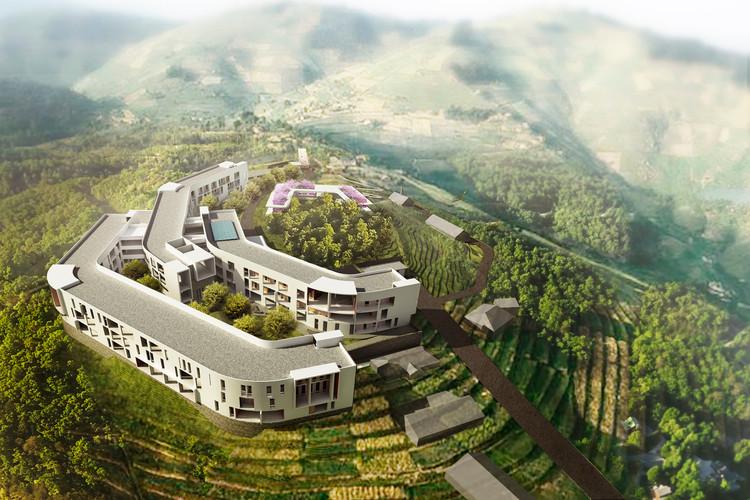 Hôpital du district de Munini. Image courtoisie du MASS Design Group