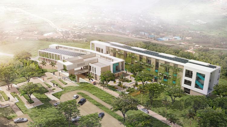Hôpital du district de Nyarugenge. Image courtoisie du MASS Design Group