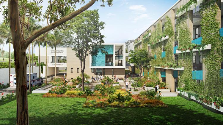 Nyarugenge District Hospital. Image courtoisie du MASS Design Group