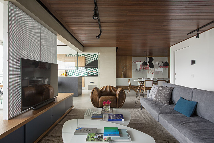 Apartamento Jardim das Perdizes  / Casa100 Arquitetura, © Gui Morelli
