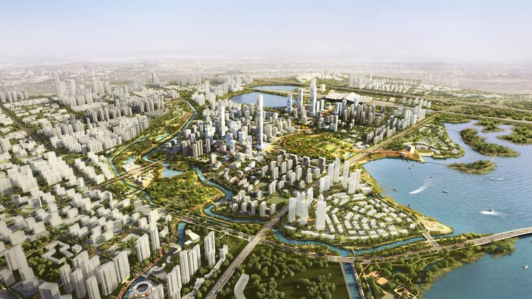 Sasaki Completes Master Plan for New Urban District next to Wuhan's High-Speed Rail, Courtesy of Sasaki