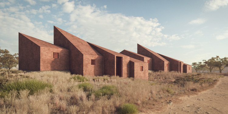 Marc Thorpe Proposes Houses for the Workers of Moroso on the Outskirts of Dakar Senegal, Courtesy of Marc Thorpe Design