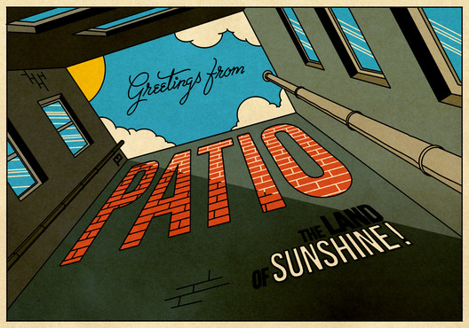 Greetings from El Patio - the land of sunshine!. Image © Álvaro Palma