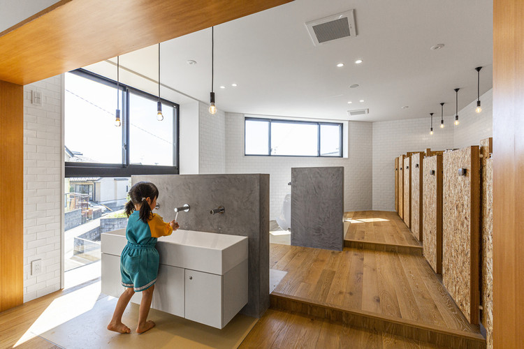 Public Bathrooms for Children: Design Tips and Inspiration, EZ Kindergarten and Nursery / HIBINOSEKKEI + Youji no Shiro + Kids Design Labo