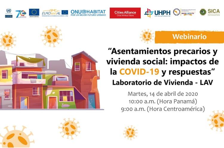 """""""Asentamientos precarios y vivienda social: impactos de la COVID-19 y respuestas"""", SISCA"""