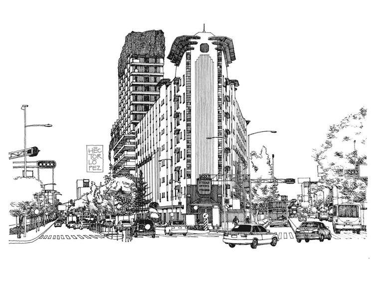 Croquis CDMX: un tributo a los edificios más representativos de la Ciudad de México, © Héctor López