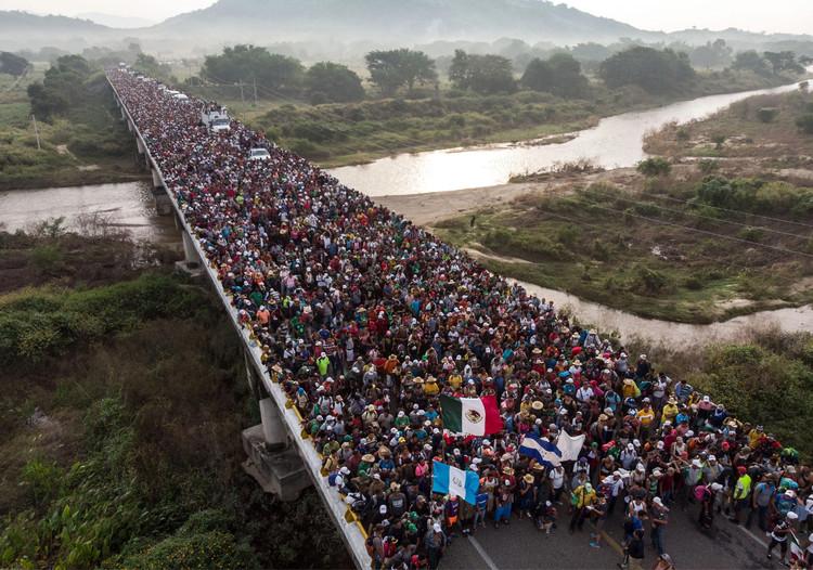 Exodo migrante en Mxico Image  Guillermo Arias