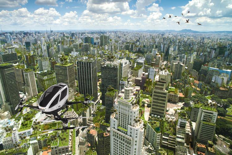 Como viveremos juntos com todas as outras espécies?, 2030 - São Paulo, cidade como floresta. © Atelier Marko Brajovic