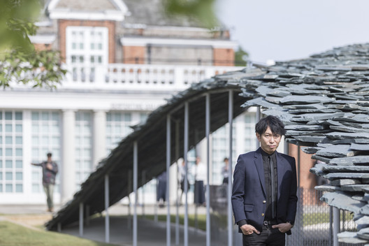 Ishigami and the Serpentine Pavilion. Image © Laurian Ghinitoiu