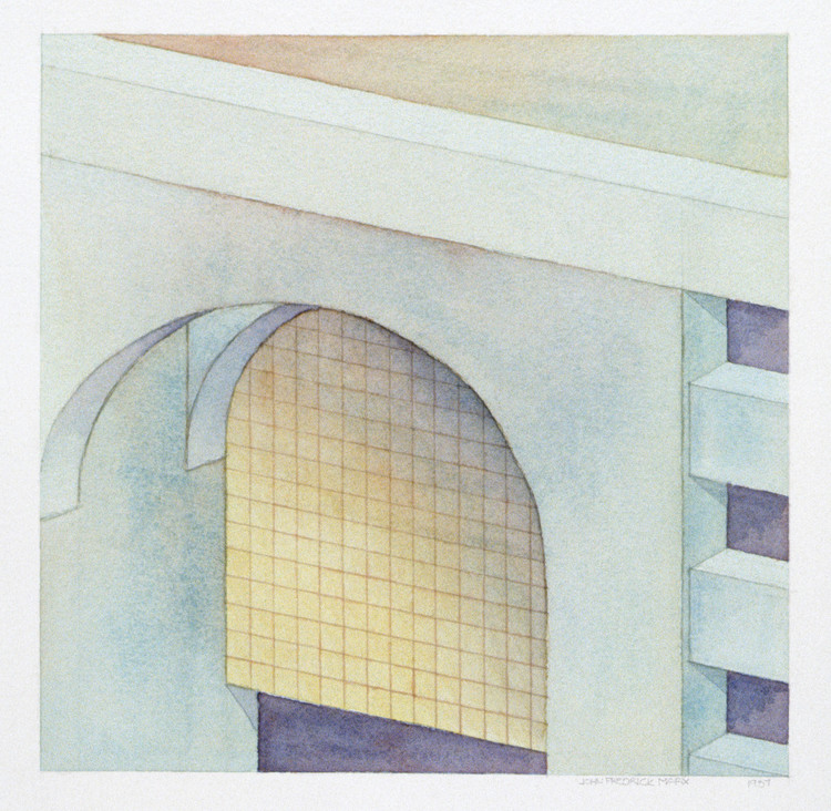 """""""Études"""" Book by John Marx Speaks to Us as We are in a New World of Empty Cities, Arragement in Muted Greys, no 2, 1987"""