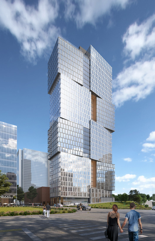 Goettsch Partners Designs New 34-story Residential Building Adjacent to Nashville Yards, Courtesy of Goettsch Partners