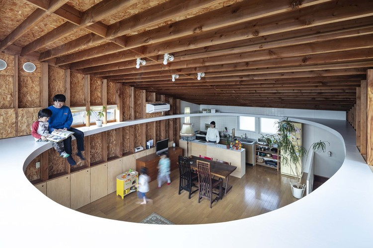 Ceiling and Ellipse House Renovation / MURAYAMA + KATO ARCHITECTURE, © Kenta Hasegawa