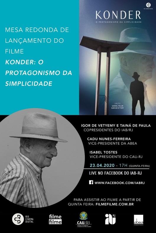 """Lançamento do filme e mesa redonda:  """"Konder: o protagonismo da simplicidade"""", Cartaz divulgação"""
