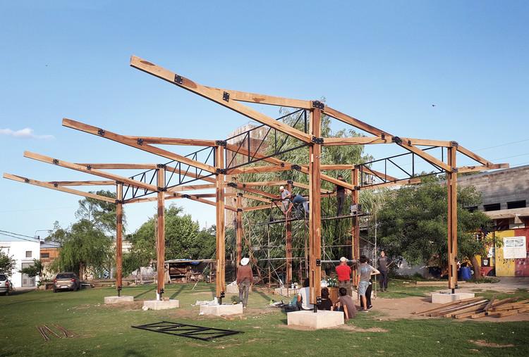 Parque Educativo La Carcova: Universidades se unen para proyecto social colectivo en Argentina, Estructura estado actual. Image Cortesía de Taller a77 (FADU-UBA)