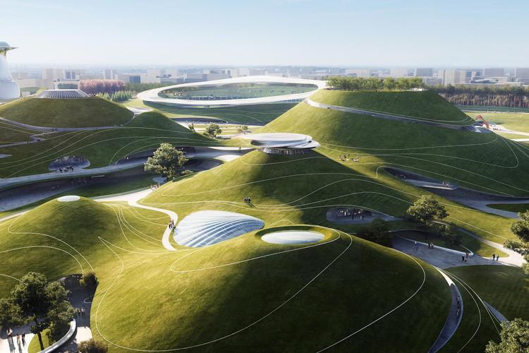 El campus deportivo montañoso de Quzhou ya está en construcción en China, Cortesía de MAD Architects