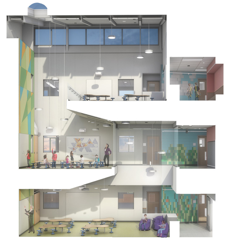 Escolas do futuro: Como o mobiliário influencia no aprendizado, Woodland Elementary School / HMFH Architects. Image Cortesia de HMFH Architects