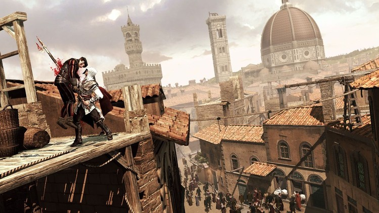 La importancia de la arquitectura en el diseño de videojuegos, Screenshot of Assassin's Creed . Image © Newgamenetwork