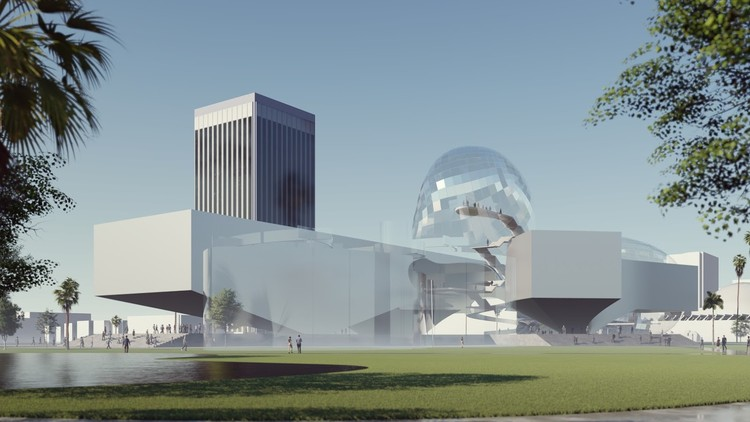 "Six International Firms Including Coop Himmelb(l)au, Barkow Leibinger, Reiser + Umemoto Propose New Ideas for LACMA, ""LACMA Wing"" by Coop Himmelb(l)au, Vienna. Image Courtesy of The Citizens' Brigade to Save LACMA"