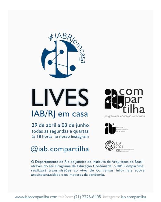 Debates IAB-RJ em casa, Cartaz divulgação, arte: Alexsander