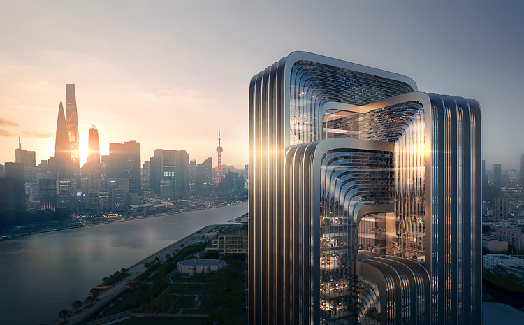 Zaha Hadid Architects to Design CECEP's HQ in Shanghai, Courtesy of ZHA, Render by Negativ.com