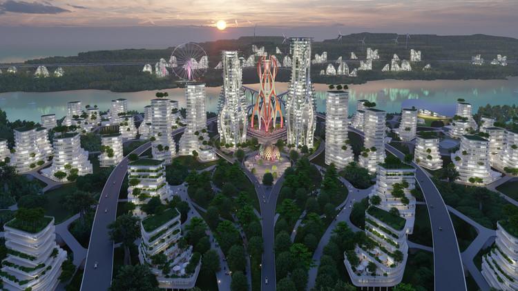 """印度尼西亚新首都的""""无限城市""""智慧城市设计。 图片由AntiStatics Architecture提供,广州际智网络科技有限公司,综合布线,监控安装,无线覆盖"""