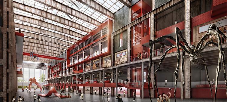 将巴西班让发电厂A重新诠释为创意产业中心。 图片由Formwerkz Architects,ID Architects,AWP Architects提供