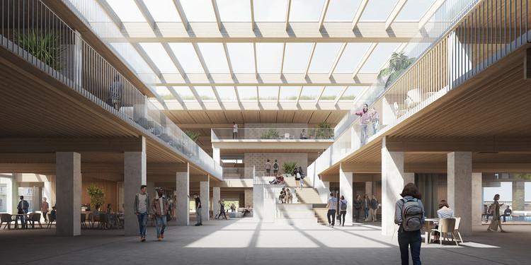 Bednarska St的教学楼。图片由BGK Architects提供