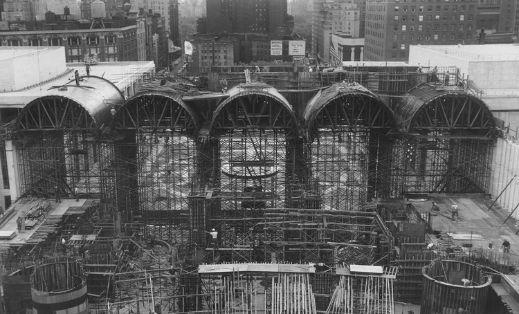 "Free Metropolitan Opera Documentary Stream of ""The Opera House"", The new Met under construction in May 1964 (Photo: Metropolitan Opera Archives)"