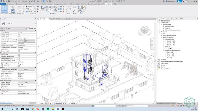 Curso Online Revit MEP: Aprende a modelar y gestionar tus proyectos de Instalaciones BIM , Cortesía de GoPillar Academy