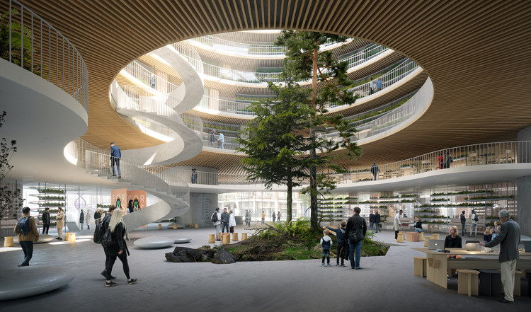 3XN to Design Forskaren, a New Health and Life Science Innovation Center in Stockholm, Courtesy of 3XN
