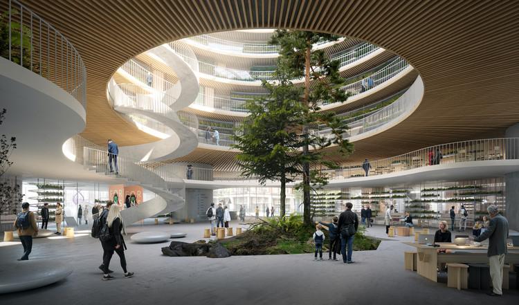 3XN projeta novo Centro de Inovação em Saúde e Ciências da Vida em Estocolmo , Cortesia de 3XN